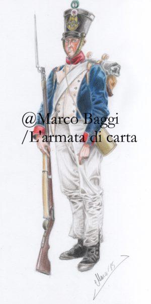 Soldato francese, 1815